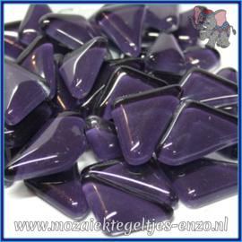 Glasmozaiek steentjes - Soft Glass Puzzles Normaal - Enkele Kleuren - per 50 gram - Purple Anemone