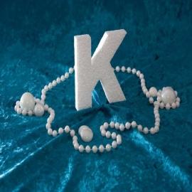 Piepschuim/Styropor - Letter K