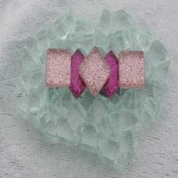 "- Glitter 1 x 1 cm -  Mini Fuchia-Magic-""S"""