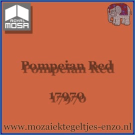 Binnen wandtegel Royal Mosa - Glanzend - 15 x 15 cm - per 44 stuks (1m2)  - Op bestelling - Pompeian Red 17970