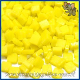Glasmozaiek Pixel steentjes - Ottoman Matte - 0,8 x 0,8 cm - Enkele Kleuren - per 50 gram - Acid Yellow
