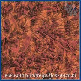 Plaatglas - Van Gogh Glass Normaal - 5 x 10 cm - Gemixte Kleuren - per 1 stuk - Red Copper