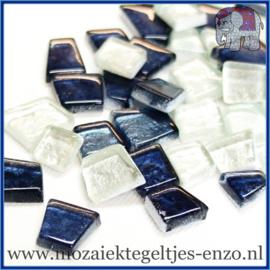 Glasmozaiek steentjes - Moonbeam Normaal - Gemixte Kleuren - per 50 gram - Narnia