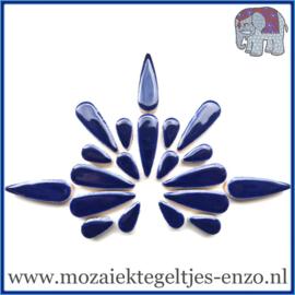Keramische mozaiek steentjes - Keramiek Teardrops Druppels Normaal - 15 en 30 mm - Enkele Kleuren - per 50 gram - Indigo