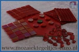 Mozaiek Kleur Pakket  Parelmoer - Rood