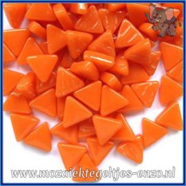 Glasmozaiek steentjes - Art Angles Normaal - 10 mm - Enkele Kleuren - per 50 gram - Mandarin