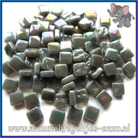 Glasmozaiek Pixel steentjes - Ottoman Parelmoer - 0,8 x 0,8 cm - Enkele Kleuren - per 50 gram - Charcoal
