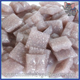 Glasmozaiek tegeltjes - Basic Line - 1 x 1 cm - Enkele Kleuren - per 60 steentjes - Mini Lavender A42