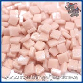 Glasmozaiek Pixel steentjes - Ottoman Matte - 0,8 x 0,8 cm - Enkele Kleuren - per 50 gram - Pale Pink