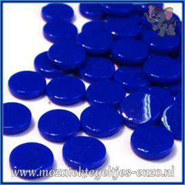 Glasmozaiek steentjes - Penny Rounds Normaal - 18 mm - Enkele Kleuren - per 50 gram - Brilliant Blue
