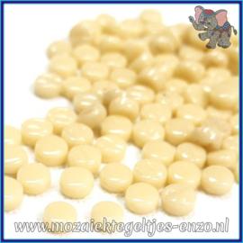 Glasmozaiek Pixel steentjes - Darling Dotz Normaal - 0,8 cm - Enkele Kleuren - per 50 gram - Cream
