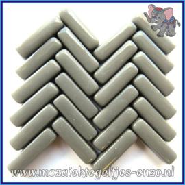 Glasmozaiek steentjes - Stix Rechthoekjes Staafjes Normaal - 6 x 20 mm - Enkele Kleuren - per 50 gram - Perfect Grey