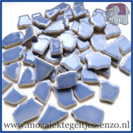 Keramische mozaiek steentjes - Keramiek Puzzel Stukjes Normaal - Enkele Kleuren - per 50 gram - Cornflower