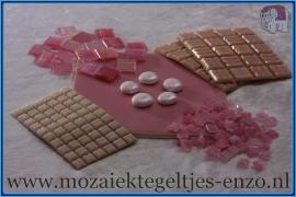 Mozaiek Kleur Pakket  Gold Line - Roze