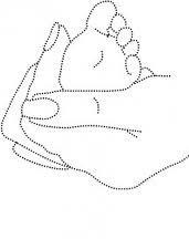 Baby voet in moeders hand