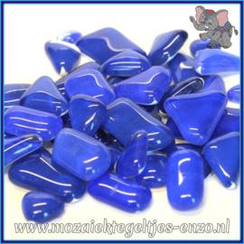 Glasmozaiek steentjes - Soft Glass Puzzles Normaal - Gemixte Kleuren - per 50 gram - Blue Delphinium