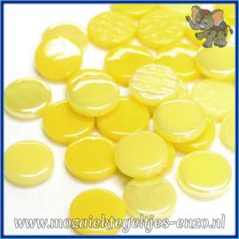Glasmozaiek steentjes - Penny Rounds Normaal en Parelmoer - 18 mm - Gemixte Kleuren - per 50 gram - Frozen Margarita