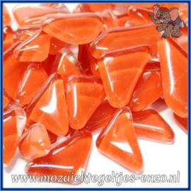 Glasmozaiek steentjes - Soft Glass Puzzles Normaal - Enkele Kleuren - per 50 gram - Carmine Red