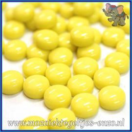 Glasmozaiek steentjes - Optic Drops Normaal - 12 mm - Enkele Kleuren - per 50 gram - Acid Yellow
