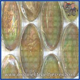 Glasmozaiek steentjes - Radiant Ellipse Parelmoer - 20 x 45 mm - Enkele Kleuren - per 1 stuk - Tibet