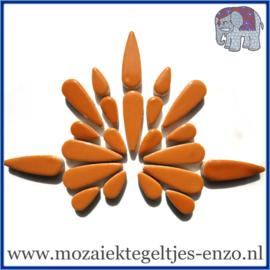 Keramische mozaiek steentjes - Keramiek Teardrops Druppels Normaal - 15 en 30 mm - Enkele Kleuren - per 50 gram - Warm Sand