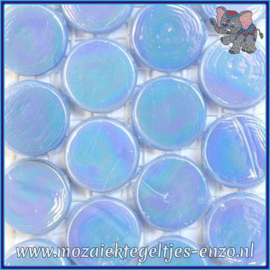 Glasmozaiek steentjes - Radiant Round Parelmoer - 18 mm - Enkele Kleuren - per 1 stuk - Atoll