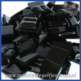 Glasmozaiek tegeltjes - Basic Line - 1 x 1 cm - Enkele Kleuren - per 60 steentjes - Mini Black A49