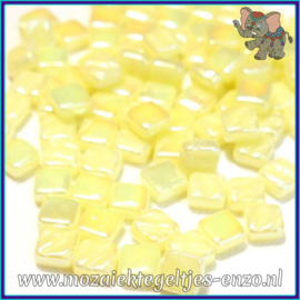 Glasmozaiek Pixel steentjes - Ottoman Parelmoer - 0,8 x 0,8 cm - Enkele Kleuren - per 50 gram - Yellow Pollen