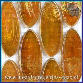 Glasmozaiek steentjes - Radiant Ellipse Parelmoer - 20 x 45 mm - Enkele Kleuren - per 1 stuk - Morocco