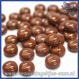 Glasmozaiek steentjes - Optic Drops Normaal - 12 mm - Enkele Kleuren - per 50 gram - Coffee