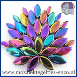 Keramische mozaiek steentjes - Petals Bloemblaadjes Normaal - 14 en 21 mm - Enkele Kleuren - per 50 gram - Disco Lights