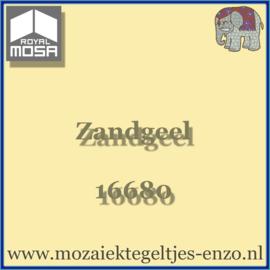 Binnen wandtegel Royal Mosa - Glanzend - 15 x 15 cm - per 1 stuk - Zandgeel 16680