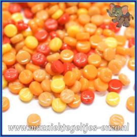 Glasmozaiek Pixel steentjes - Darling Dotz Normaal - 0,8 cm - Gemixte Kleuren - per 50 gram - Orange Zest