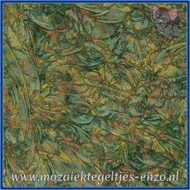 Plaatglas - Van Gogh Glass Normaal - 5 x 10 cm - Gemixte Kleuren - per 1 stuk - Green Copper Gold