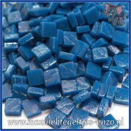 Glasmozaiek Pixel steentjes - Ottoman Matte - 0,8 x 0,8 cm - Enkele Kleuren - per 50 gram - Deep Lake Blue