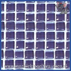 Glasmozaiek tegeltjes - Murrini Crystal - 1 x 1 cm - Enkele Kleuren - per 60 steentjes - Mini Purple Anemone