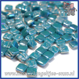 Glasmozaiek Pixel steentjes - Ottoman Parelmoer - 0,8 x 0,8 cm - Enkele Kleuren - per 50 gram - Deep Teal
