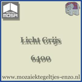 Binnen wandtegel Royal Mosa - Glanzend - 15 x 15 cm - per 1 stuk - Licht Grijs 6400