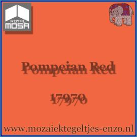 Binnen wandtegel Royal Mosa - Glanzend - 15 x 15 cm - per 1 stuk - Pompeian Red 17970