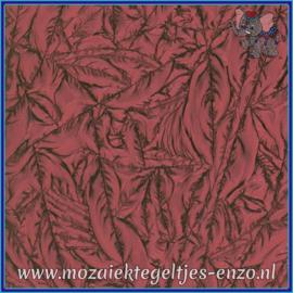 Plaatglas - Van Gogh Glass Normaal - 5 x 10 cm - Enkele Kleuren - per 1 stuk - Cranberry Red