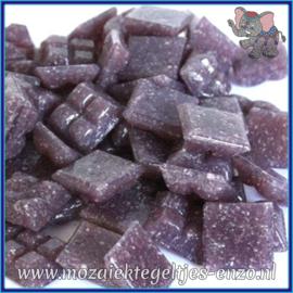 Glasmozaiek tegeltjes - Basic Line - 1 x 1 cm - Enkele Kleuren - per 60 steentjes - Mini Violet A43