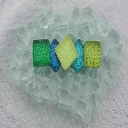 "- Glitter 1 x 1 cm -  Mini Rainbow-Ice-""S"""