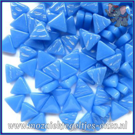 Glasmozaiek steentjes - Art Angles Normaal - 10 mm - Enkele Kleuren - per 50 gram - True Blue