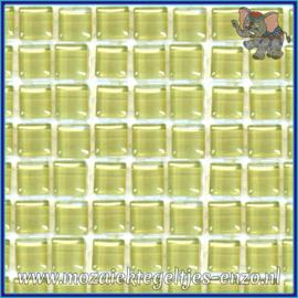 Glasmozaiek tegeltjes - Murrini Crystal - 1 x 1 cm - Enkele Kleuren - per 60 steentjes - Mini Ivory Tusk