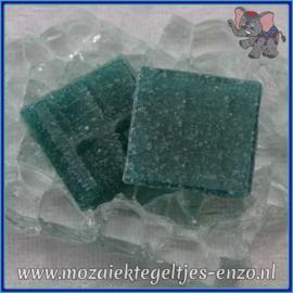 Glasmozaiek tegeltjes - Basic Line - 2 x 2 cm - Enkele Kleuren - per 20 steentjes - Deep Sea A67