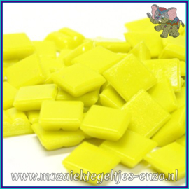 Glasmozaiek tegeltjes - Basic Line - 1 x 1 cm - Enkele Kleuren - per 60 steentjes - Mini Bright Yellow A90