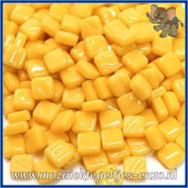 Glasmozaiek Pixel steentjes - Ottoman Normaal - 0,8 x 0,8 cm - Enkele Kleuren - per 50 gram - Warm Yellow