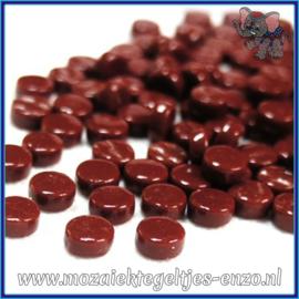 Glasmozaiek Pixel steentjes - Darling Dotz Normaal - 0,8 cm - Enkele Kleuren - per 50 gram - Bordeaux