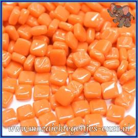 Glasmozaiek Pixel steentjes - Ottoman Normaal - 0,8 x 0,8 cm - Enkele Kleuren - per 50 gram - Mandarin
