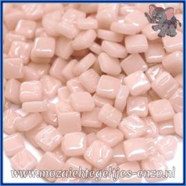 Glasmozaiek Pixel steentjes - Ottoman Normaal - 0,8 x 0,8 cm - Enkele Kleuren - per 50 gram - Pale Pink